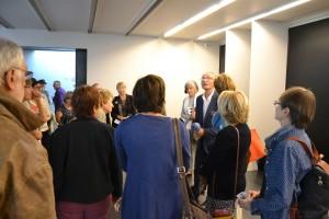 Avec Patrice Lemoux, président des amis du musée