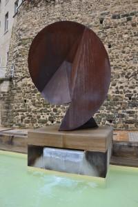 Une sculpture installée dans la Drome à Alixan