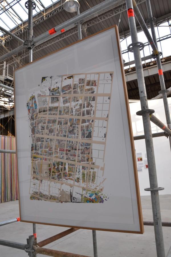 Collage sur papier. Martin Vitaliti Collection privée. Courtoisie galerie et Hall, Barcelone
